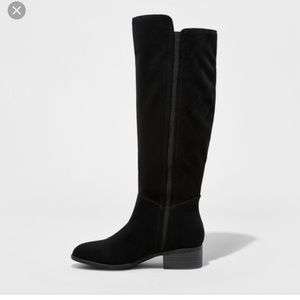 Faux suede plus size friendly tall boots